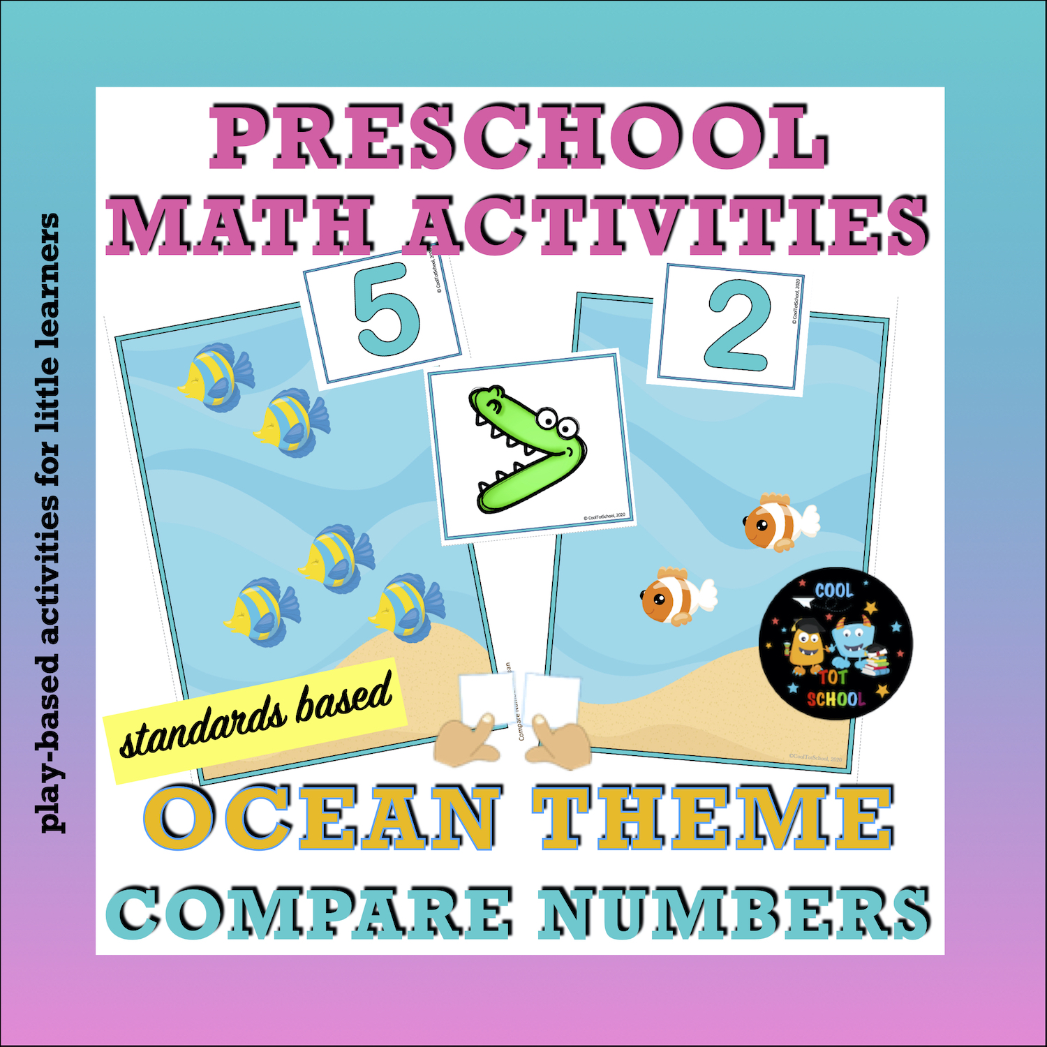 comparing quantities of fishes child's math activities
