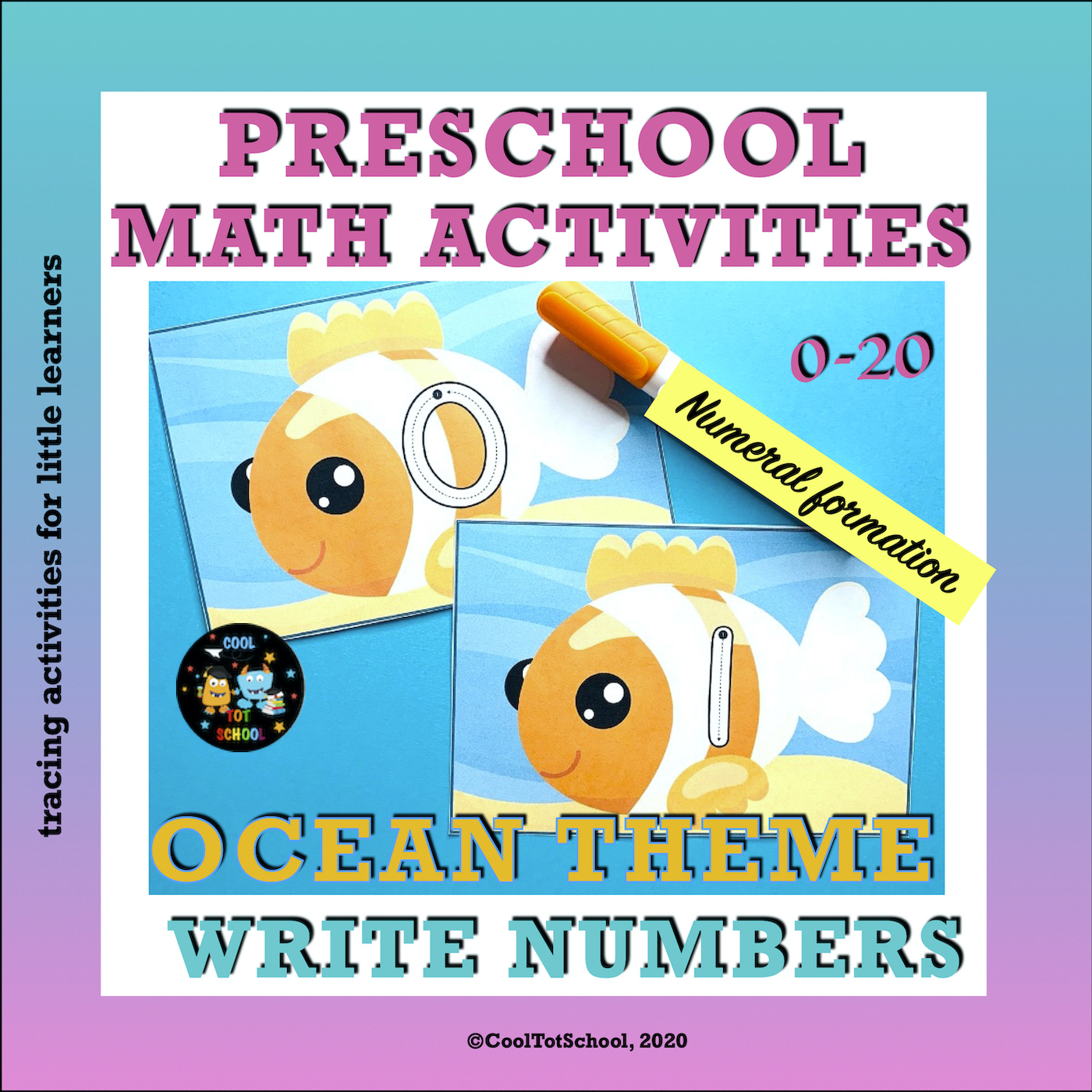 clown fish number formation cards