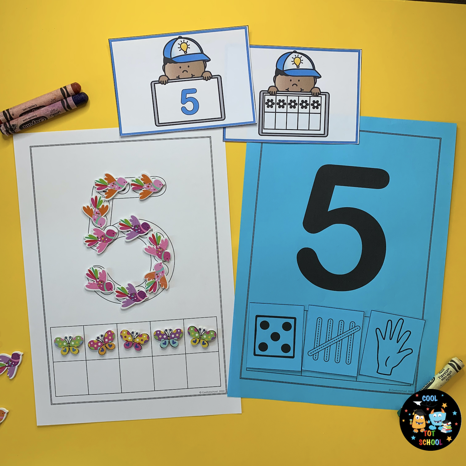 birds-counting-number-5-learning-activities