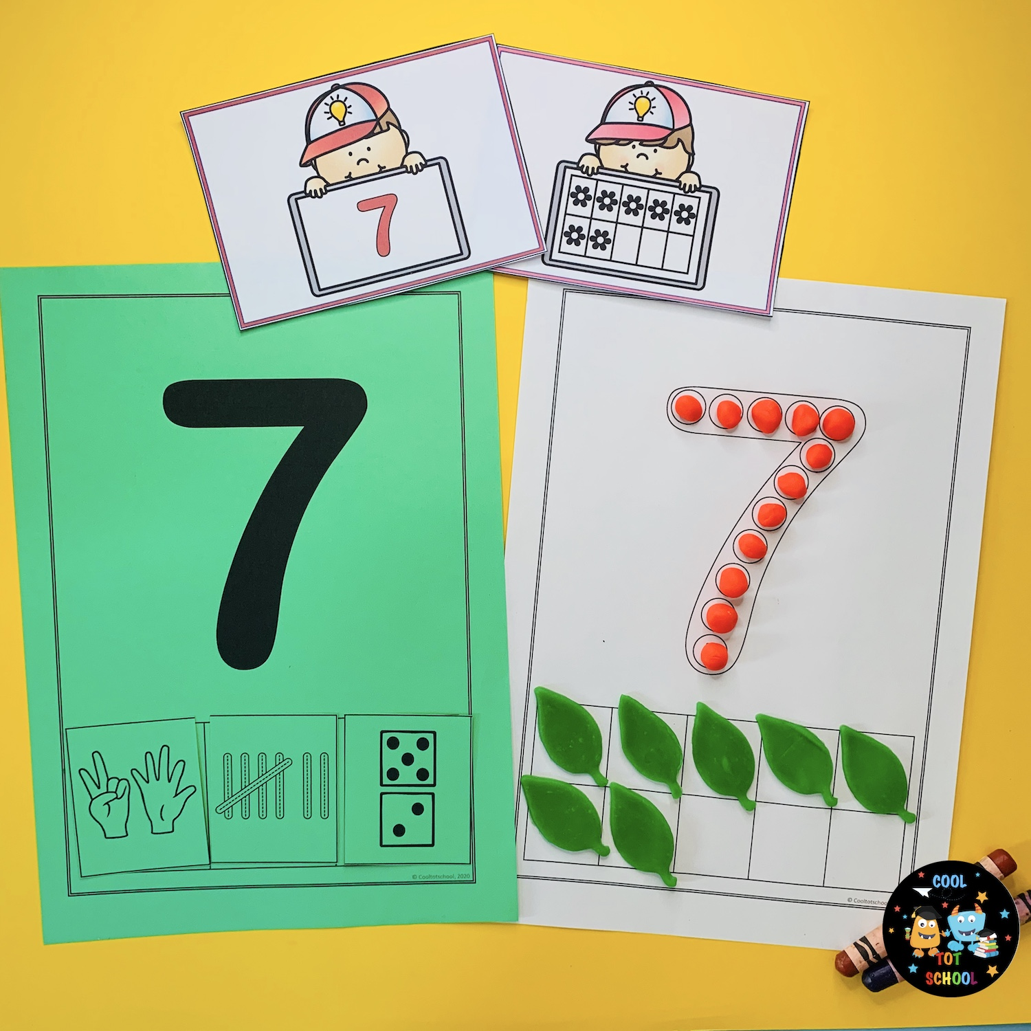 learning-number-7-with-play-doh-counting-activities