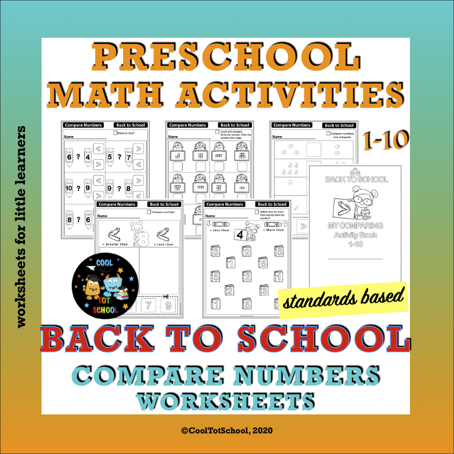 Thematic Resources Cooltotschool - 34+ Comparing Numbers 1-10 Worksheets Kindergarten Images