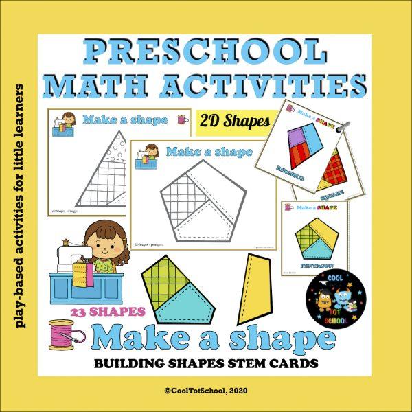building shapes games for children