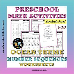 Ocean-number-sequences-prek-worksheets-Cover-page