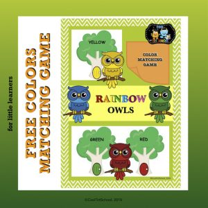 free color matching game to help colorful owls find their colorful home tree.