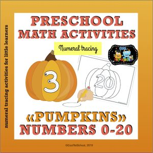This pumpkin set is full of numeral formation cards in color and black/white to help your kindergarten students practice tracing numbers up to 20.