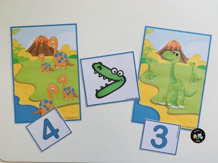 Dinosaurs-comparing-numbers-cards-activity